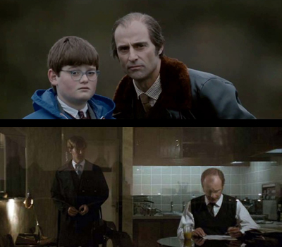 Top: Mark Strong (R), Not Benedict Cumberbatch (L); Bottom, Benedict Cumberbatch (L), Not Mark Strong (R)