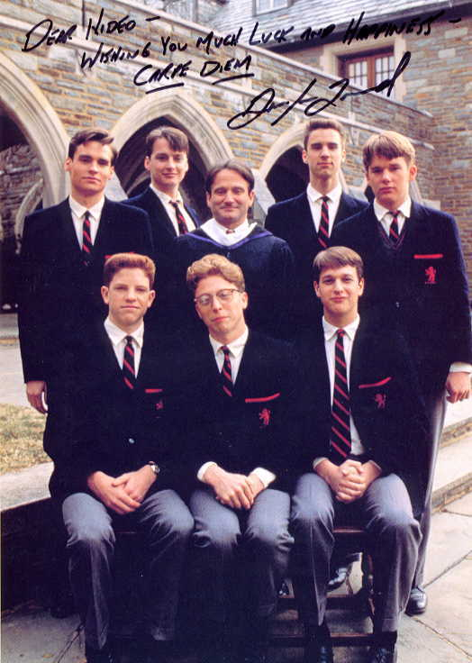 "autographed cast photo from ""Dead Poets Society"""