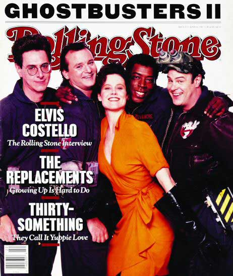 """Ghostbusters II"" cast on the cover of Rolling Stone"